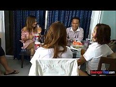 คลิปx Thailand Bangkok  สองสาวไทยขายตัวโดนฝรั่งซื้องานคู่เปิดโรงแรม สวิงกิ้งบนเตียงคู่ เย็ดโหดใครร้องครางดังกว่า