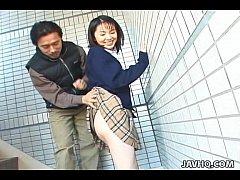 คลิปหลุดนักเรียนญี่ปุ่น โดนมือดีแอบถ่าย เอากันคาชุดคอซอง นอกสถานที่ในที่สาธารณะ ของจริง