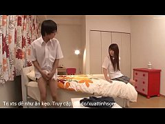 มาดูวัยรุ่นญี่ปุ่นเอากัน สาวสวยนักเรียนสุดโหดบังคับเพือนชายมานอนบ้าน เพื่อศึกษาเรื่องเย็ด